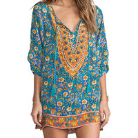 Tolani Madison Tunic Dress in Turquoise