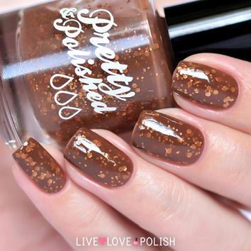 Pretty & Polished Double, Double, Toil and Truffle Nail Polish (Dessert for Nails Collection)