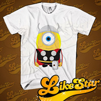 THOR MINION Parody Men T-Shirt - Thor T-Shirt - Minion T-Shirt - Marvel Design T-Shirt for Men (Various Color Available)