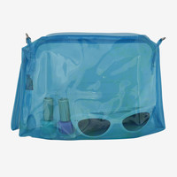 Jelly Make Up Bag - Blue