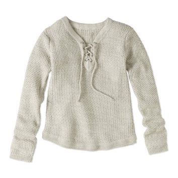 Pink Angel Girls' Laced Neck Rounded Hem Pullover Sweater - Walmart.com