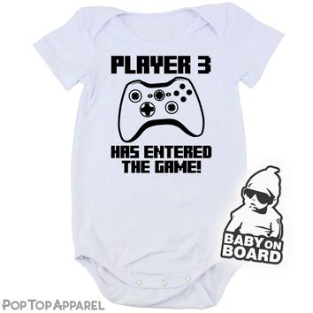 Baby's Printed Bodysuit - Player 3 Xbox Controller Inspired