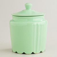 Mint Scalloped Jar | World Market