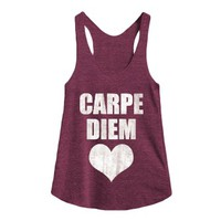 Carpe Diem-Female Tri Cranberry Tank