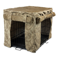 Cabana Pet Crate Cover - Large/Sicilly Bone/Peat