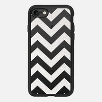 TIFFANY SILVER CHEVRON TRANSPARENT iPhone 7 Hülle by Monika Strigel | Casetify