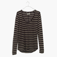 Anthem Scoop Long-Sleeve Tee in Cloverdale Stripe : shopmadewell long-sleeve tees | Madewell