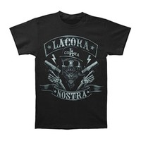 La Coka Nostra Men's  Airbrush T-shirt Black