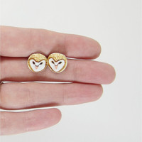 $29.00 barn owl post earrings by HandyMaiden on Etsy