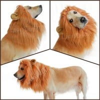 LionBuff Lion Mane Costume for Dog, LionBuff Dog Wig for Holloween Christmas Party, Purchase This Item Get Your Little Lion