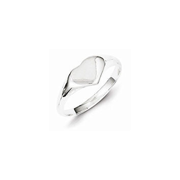 Sterling Silver Heart Signet Ring, Best Quality Free Gift Box Satisfaction Guaranteed