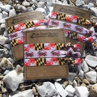 Maryland pride hair ties