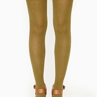 Annelise Thigh Highs - Olive
