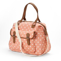 Candie's Heart & Polka-Dot Weekender Satchel (Blue)