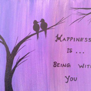 Love Bird Quotes Magnificent Love Bird Art Love Birds Acrylic Painting From Preethiart