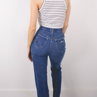 Vintage (Size XS) 70s Chic High Waisted Denim Jeans