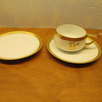 ROSENTHAL CHINA TWO (2) SMALL SAUCERS AND ONE (1) CUP MADE IN BAVARIA DONA TELLO