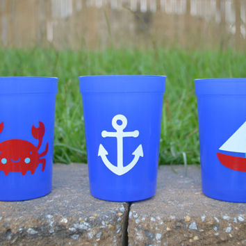 10 nautical toddler cup party favors
