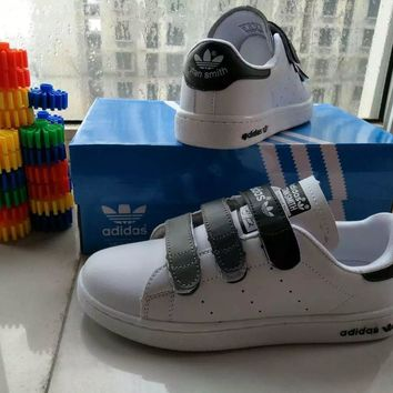 """""""Adidas Stan Smith"""" Unisex Sport Casual Multicolor Plate Shoes Sneakers Couple Velcro"""
