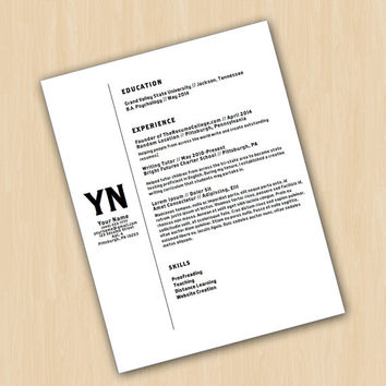 COUPON INSIDE! Resume Template & Cover Letter - The Brothers Resume Design - Instant Download - Word Document / Docx / Doc Format