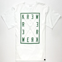 Kr3w Four Corners Mens T-Shirt White  In Sizes