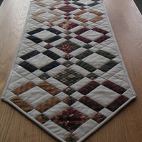 Quilted, Patchwork Table Runner