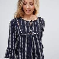 Lunik Stripe Smock Dress at asos.com
