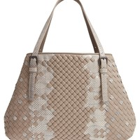 Bottega Veneta Cesta Intrecciato Leather & Genuine Snakeskin Tote | Nordstrom