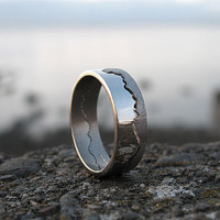 Personalised Gold Coastline Ring