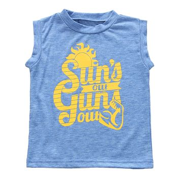 Summer Baby Boys Clothing Letter Printed Sleeveless Tank Top Toddler Children Clothes Cotton top Vest