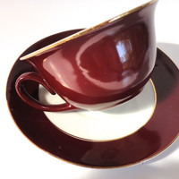 Brown Espresso Demitasse Cup Porcellana Maua