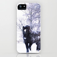 Horse  iPhone & iPod Case by Tanja Riedel