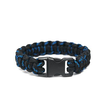 Black with Blue Paracord Bracelet