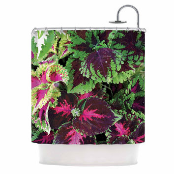 "Louise Machado ""Forest"" Green Magenta Shower Curtain"