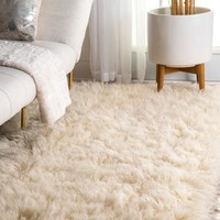 Iconic Shag Greek Flokati Rug in Beige or Grey