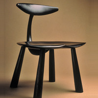 My Friend  by Dean Pulver: Wood Chair - Artful Home