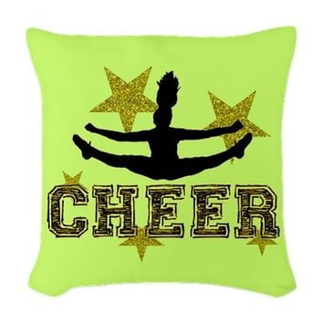 Cheerleader Woven Throw Pillow
