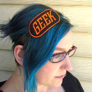 Geek - Neon - Hair Clip or Headband