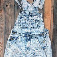 New - Denim Distressed Bib Overall Shorts -Great for Stagecoach or Coachella