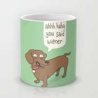 Immature Dachshund Mug by Phil Jones