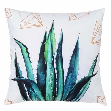 Aloe Print Cushion Cover