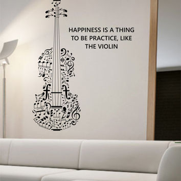 Violin Wall Decal Vinyl Sticker Art Decor Bedroom Design Mural school education educational sounds artist musician home decor wall decor