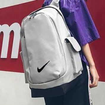 Nike large capacity backpack new campus solid color student backpack men's and women's leisure sports trend backpack