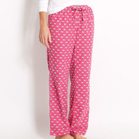 Santa Whale Flannel Lazy Pants