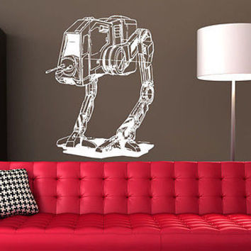 AT-ST WALKER Star Wars Nursery Bedroom sticker decal wall art decor 7292-2
