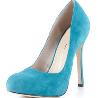 Dolce Vita - Beam Suede Pumps, Teal - Last Call