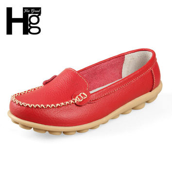 New  Geniune Leather Women Shoes Causal Soft Woman's Flats 8 Colors Female Moccasins Sapatilhas Femininos XWC101