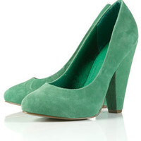 GORGEOUS Green Suede Almond Toe Court Shoes - Topshop