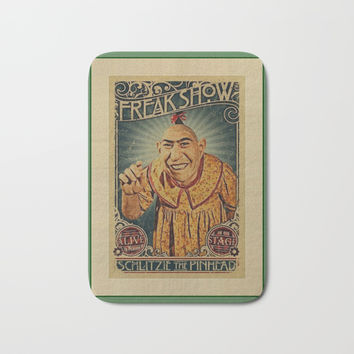pinheadfreakshow Bath Mat by Kathead Tarot/David Rivera