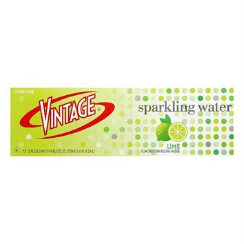 Vintage: Sparkling Water Lime 12x12 Oz Cans, 144 Oz